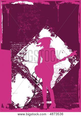 Girl jump guitar