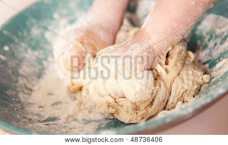 Making Bread Kneading Dough