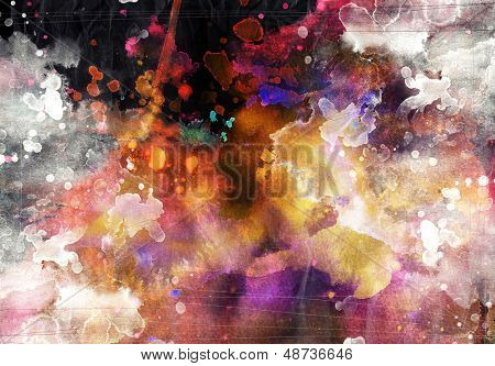 Abstract watercolor background - grunge paper texture