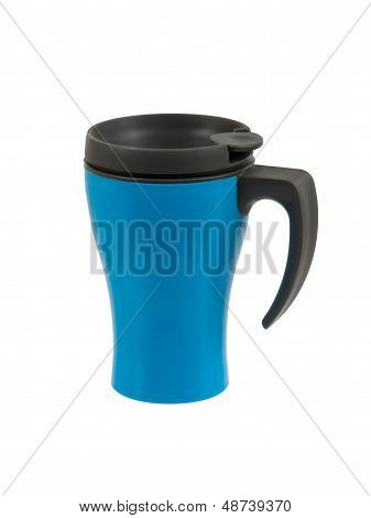 Blue Thermos Isolated