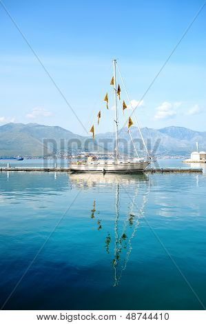 Beautiful Boat In The Sea Of Gaeta, Italy