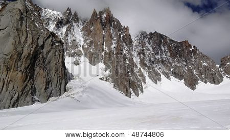 sharp peaks of Alps