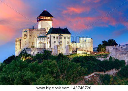 Trencin Castle on September 10, 2012 in Slovakia.
