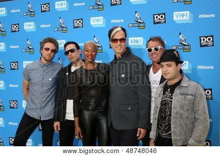 LOS ANGELES - JUL 31:  Fitz and the Tantrums, featuring Michael Fitzpatrick arrives at the 2013 Do Something Awards at the Avalon on July 31, 2013 in Los Angeles, CA