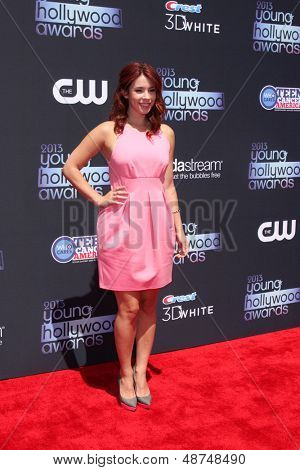 LOS ANGELES - AUG 1:  Jillian Rose Reed arrives at the 2013 Young Hollywood Awards at the Broad Stage on August 1, 2013 in Santa Monica, CA