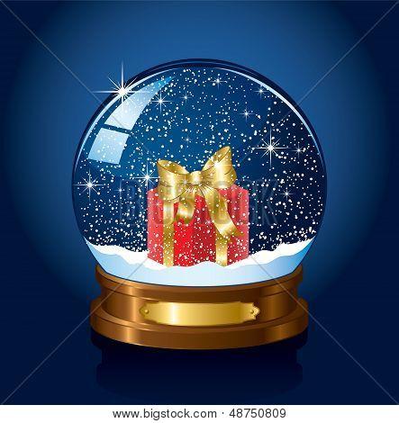 Snow globe with Present