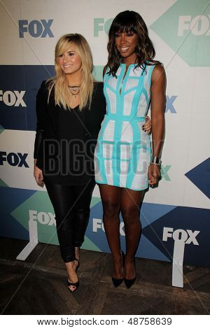 SLOS ANGELES - AUG 1:  Demi Lovato, Kelly Rowland arrives at the Fox All-Star Summer 2013 TCA Party at the SoHo House on August 1, 2013 in West Hollywood, CA