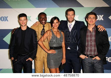 SLOS ANGELES - AUG 1:  Parker Young, Keith David, Angelique Cabral, Geoff Stults, Chris Lowell arrives at the Fox Summer 2013 TCA Party at the SoHo House on August 1, 2013 in West Hollywood, CA