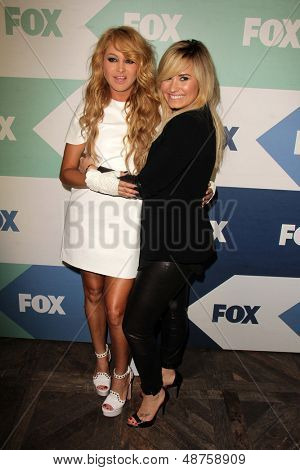 SLOS ANGELES - AUG 1:  Paulina Rubio, Demi Lovato arrives at the Fox All-Star Summer 2013 TCA Party at the SoHo House on August 1, 2013 in West Hollywood, CA