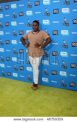 LOS ANGELES - JUL 31:  Alex Newell arrives at the 2013 Do Something Awards at the Avalon on July 31, 2013 in Los Angeles, CA