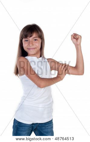 Little Girl Shows Us Their Biceps