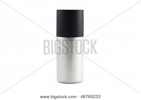 Silver spray on white background