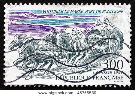 Postage Stamp France 1997 Fresh Fish Merchants