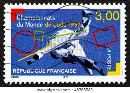 Postage Stamp France 1997 Judo, Combat Sport