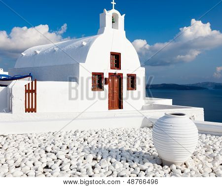 Small Greek Church Oia Santorini