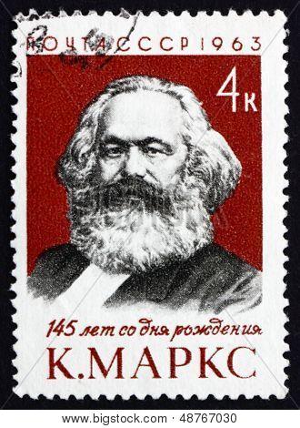 Postage Stamp Russia 1963 Karl Marx, Philosopher