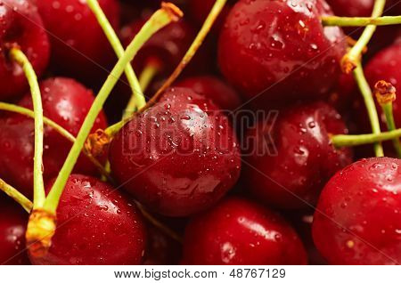 Heap of sweet cherry