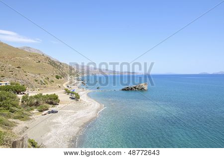 Coastline of south Crete