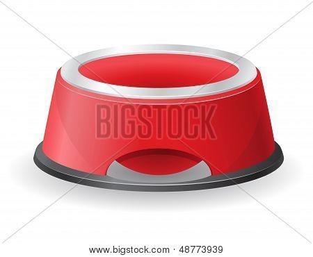 Dog Bowl voor voedsel vectorillustratie