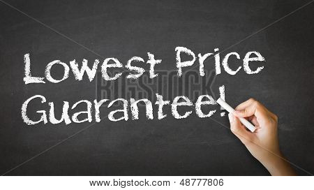 Lowest Price Guarantee Chalk Illustration