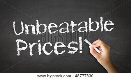 Unbeatable Prices Chalk Illustration