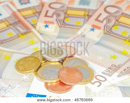Coins Over 50 Euro Bills