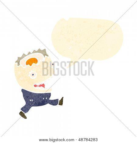 boiled egg retro cartoon character