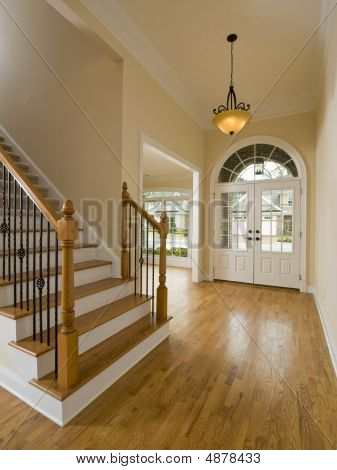 Luxury Home Staircase And Foyer