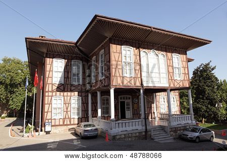 BURSA, TURKEY - AUGUST 20: Old building of municipality in Bursa, Turkey on August 20, 2011. The house was built in 1879, and was opened to public in 1997
