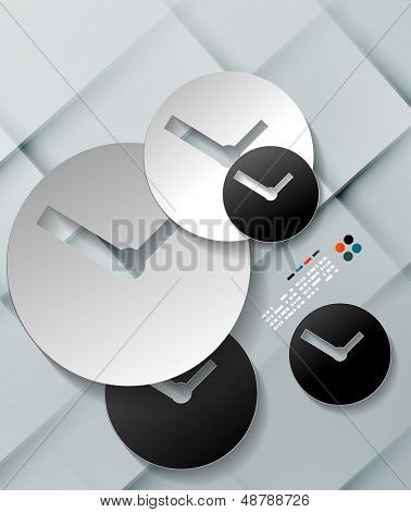 Vector time paper modern clock design