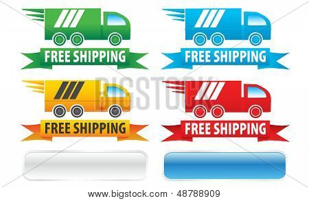 Free Shipping Trucks Ribbons and Buttons
