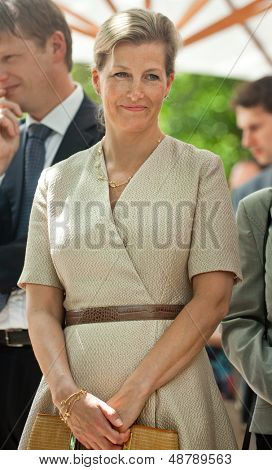OFIA, BULGARIA - JUNE 24: The Princess Sophie, Countess of Wessex on a visit at Community Support Center