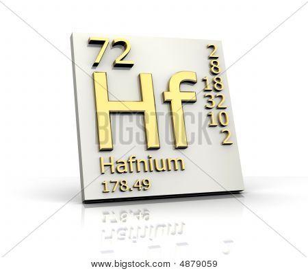 Hafnium Form Periodic Table Of Elements
