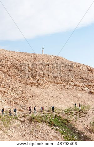 Cross In Judean Desert