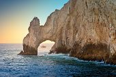 pic of cortez  - The natural rock formation called the Arch in Cabo San Lucas Mexico - JPG