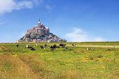 foto of mont saint michel  - Le Mont Saint Michel Abbey Normandy  - JPG