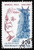 Postage Stamp France 1992 Marcel Paul, Minister Of Industrial Pr