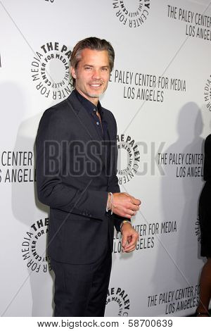 Timothy Olyphant at the Paley Center for Media 2013 Benefit Gala, 20th Century Fox Studios, Los Angeles, CA 10-16-13