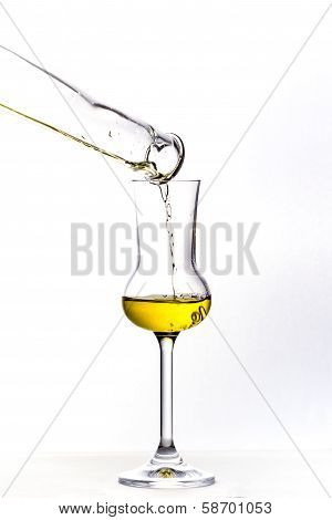 Filling up the grappa glass