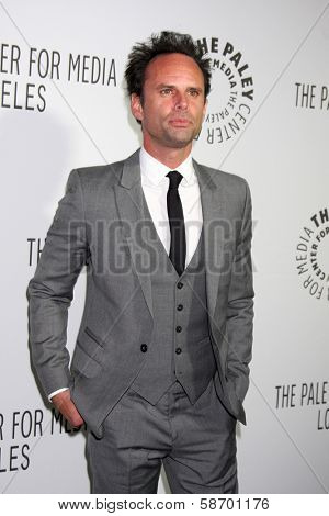 Walton Goggins at the Paley Center for Media 2013 Benefit Gala, 20th Century Fox Studios, Los Angeles, CA 10-16-13
