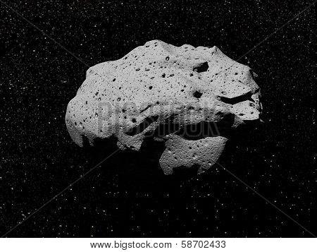 Asteroid - 3D render
