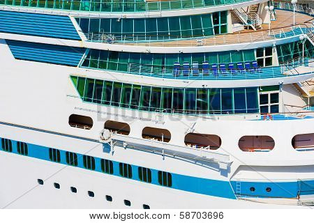 Side Of A Cruise Ship