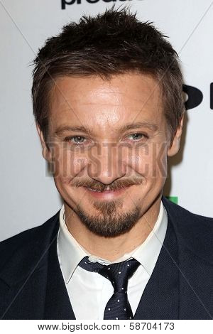 Jeremy Renner at the 17th Annual Hollywood Film Awards Backstage, Beverly Hilton Hotel, Beverly Hills, CA 10-21-13