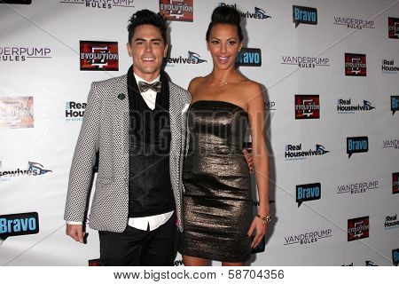 Tom Sandoval and Scheana Marie at the Real Housewives of Beverly Hills Season 4 Party and Vanderpump Rules Season 2 Party, Blvd. 3, Hollywood, CA 10-23-13