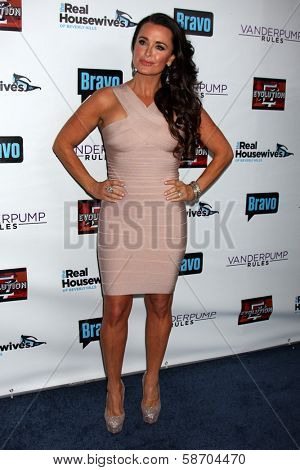 Kyle Richards at the Real Housewives of Beverly Hills Season 4 Party and Vanderpump Rules Season 2 Party, Blvd. 3, Hollywood, CA 10-23-13