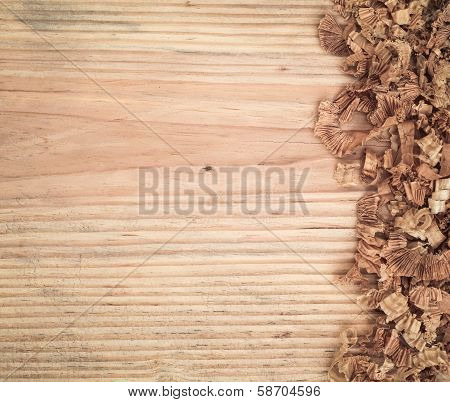 Woodchips On Fir Board