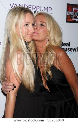 Kim Richards and Brooke Brinson at the Real Housewives of Beverly Hills Season 4 Party and Vanderpump Rules Season 2 Party, Blvd. 3, Hollywood, CA 10-23-13