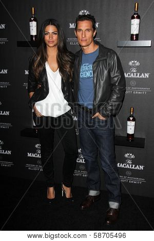 Camila Alves and Matthew McConaughey at the Macallan Masters of Photography Featuring Elliott Erwitt, Leica Gallery, Los Angeles, CA 10-24-13