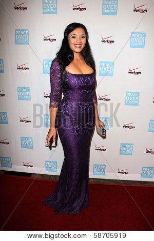 Vanessa Bronfman at the Peace Over Violence 42nd Annual Humanitarian Awards, Beverly Hills Hotel, Beverly Hills, CA 10-25-13