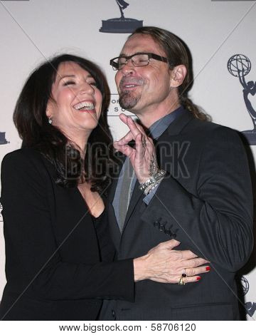 "Katey Sagal and Kurt Sutter at An Evening with ""Sons of Anarchy,"" Leonard H. Goldenson Theater, North Hollywood, CA 10-25-13"
